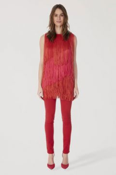 Regata Tricot Long Franjas - Animale