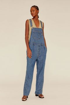 Macacao Jeans Basic - Animale