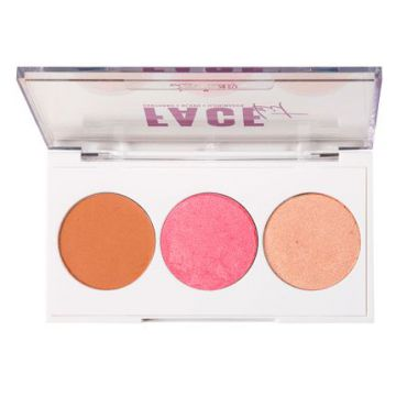 Paleta De Blush E Iluminador Luv Beauty - Face Kit - 1un