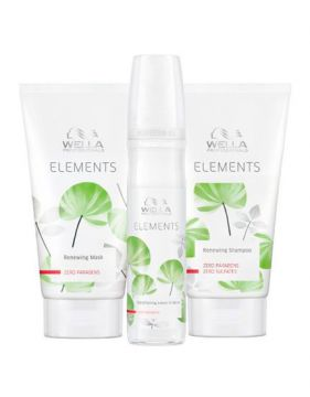 Kit Shampoo + Máscara + Leave-in Wella Professionals Element