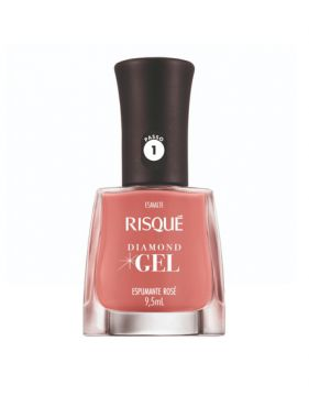 Esmalte Diamond Gel Espumante Rosé 9,5ml Risqué