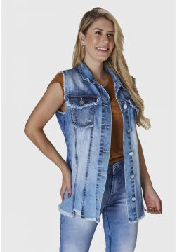 Colete Jeans HNO Jeans Azul - Azul