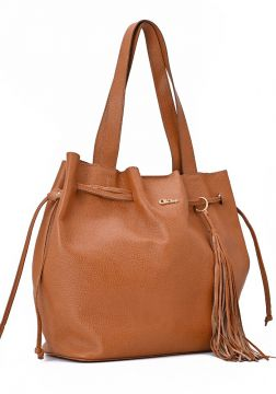 Leather Shopper Bag Brown - Carmen Steffens