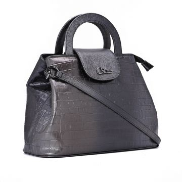 Essential Leather Bag Degradê Grey - Carmen Steffens