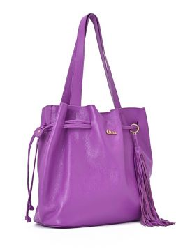 Leather Shopper Bag Ultra Violet - Carmen Steffens