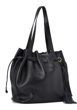 Leather Shopper Bag Black - Carmen Steffens