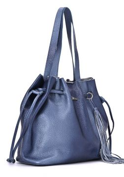 Leather Shopper Bag Degradê Lunar - Carmen Steffens