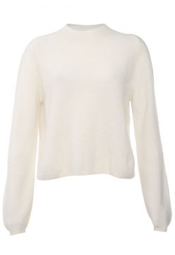 Suéter Lã Banana Republic Tricot Aire Puff Sleeve Off-White