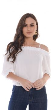Blusa Cigana Love Poetry Offwhite