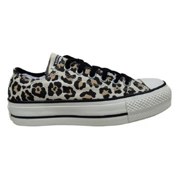 Tênis Plataforma Converse All Star Chuck Taylor Lift Animal