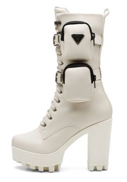 Coturno Vicerinne Bad Girl Soldier Off White