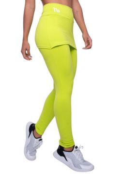 Legging com Saia Fitness Verde Honey Be LG1298 Verde