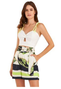 Blusa Zarky Cropped Laise Off White