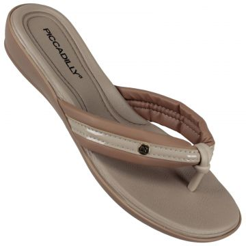 Chinelo Feminino Piccadilly 500271 Piccadilly Bege