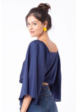 Cropped Mercatto Cropped Azul