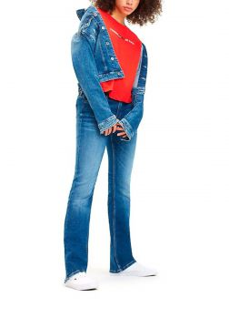 Calça Jeans Tommy Jeans Mid Rise Boot 1979 Azul Tam. 44