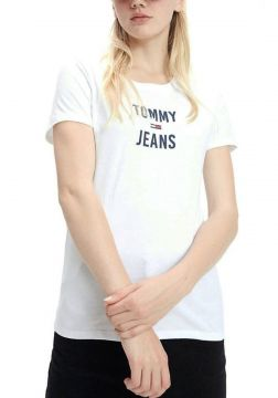 T-Shirt Tommy Jeans Square Branco Tam. G